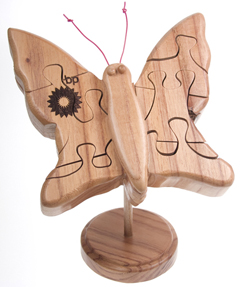 Custom Wood Puzzle - Butterfly
