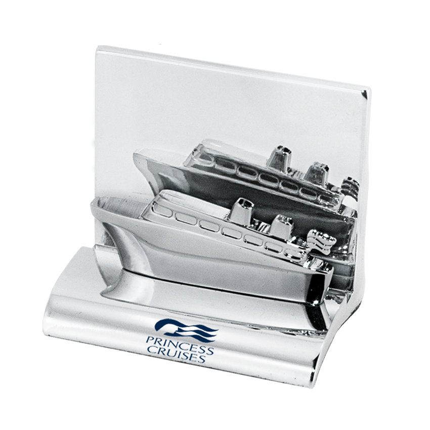 Cruise Ship Business Card Holder - Metal Business Card Holders