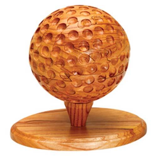 Custom Wood Puzzle Golf Ball Puzzlesbrainteasers Toys