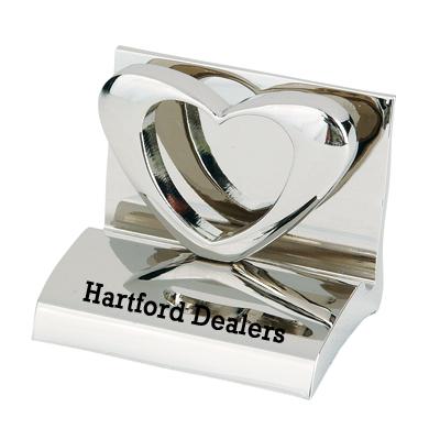 Heart shaped business card holder metal business card holders heart shaped business card holder colourmoves